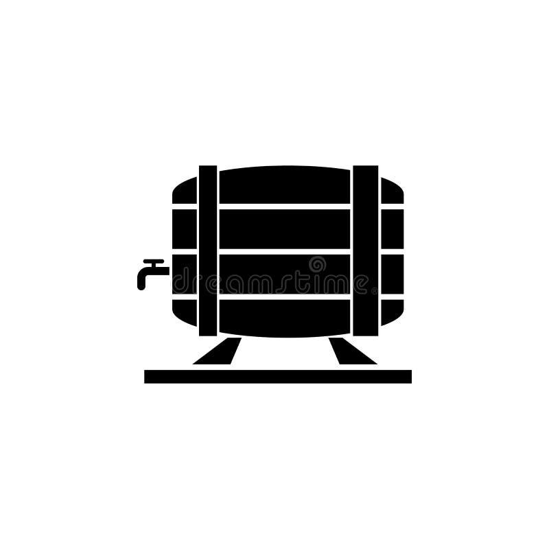 Bierfassikone vektor abbildung
