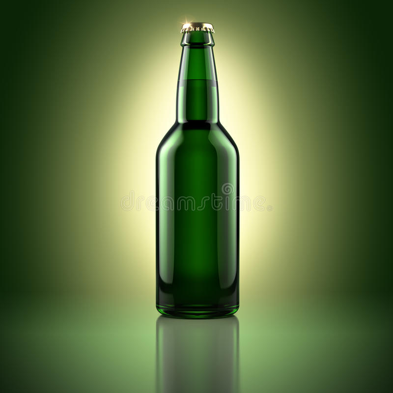 Bierflasche stock abbildung