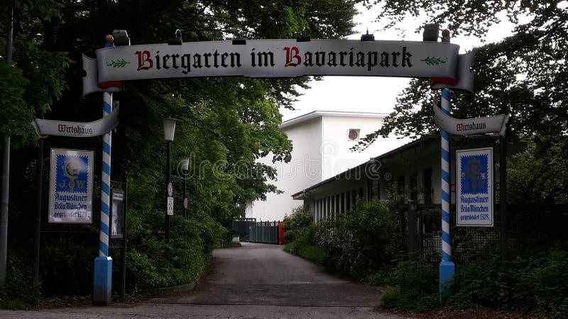 Biergarten στοκ φωτογραφία με δικαίωμα ελεύθερης χρήσης