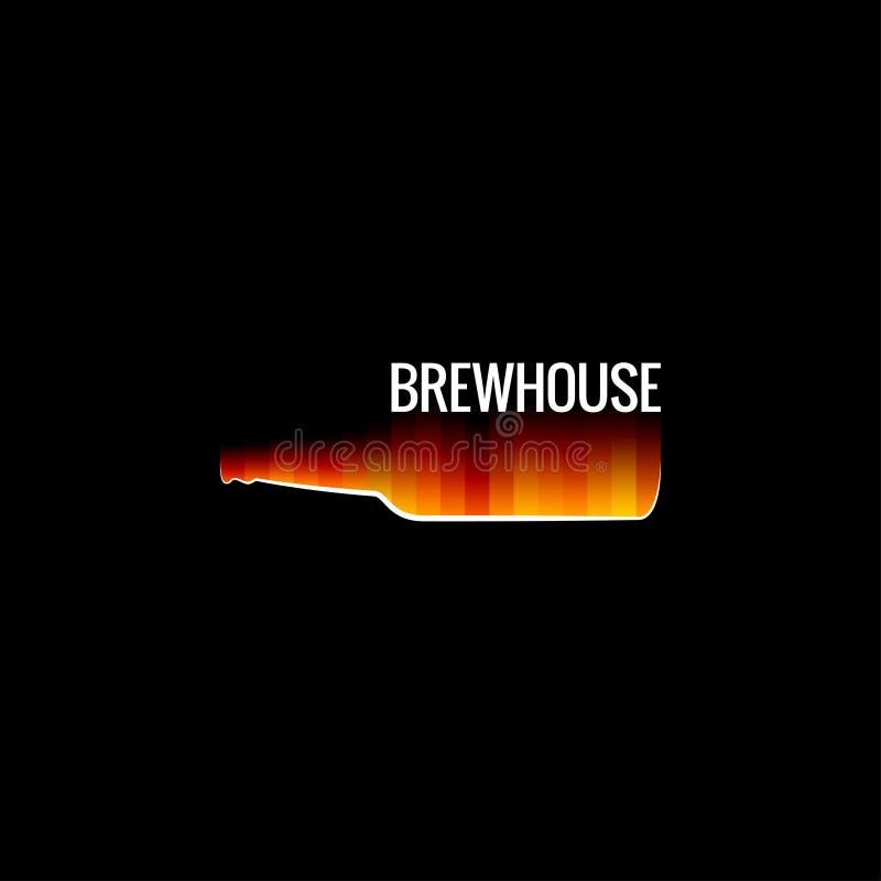 Bierglas-Feuerdesignhintergrund stock abbildung