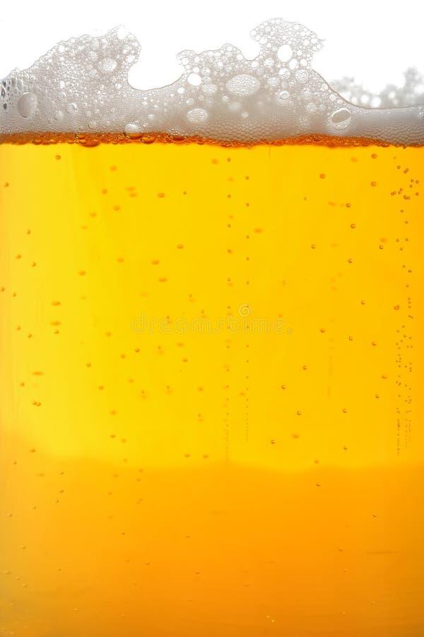 Bierglasmakro lizenzfreies stockfoto
