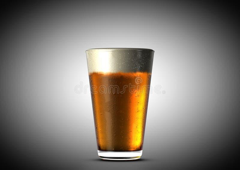 Bierhalbes liter stock abbildung