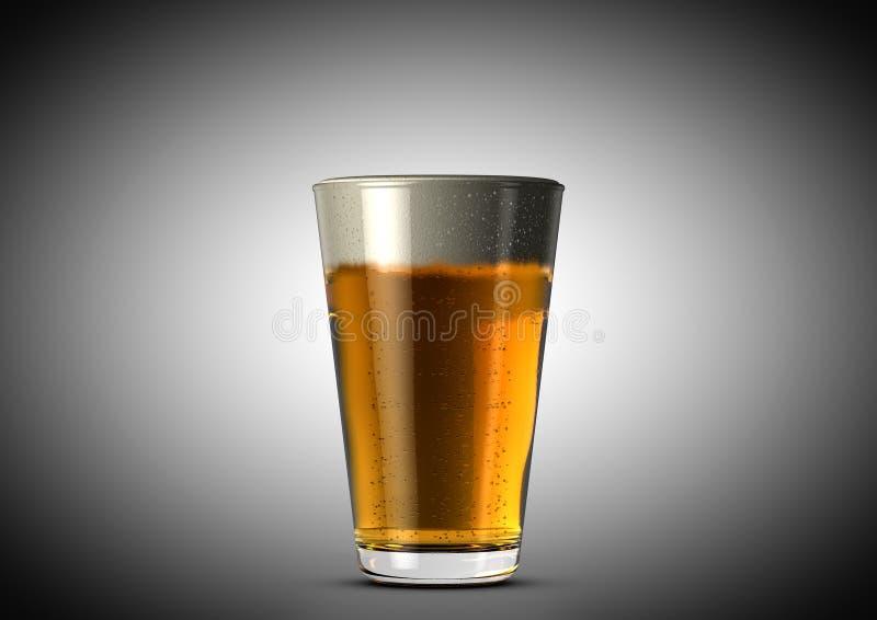 Bierhalbes liter lizenzfreie abbildung