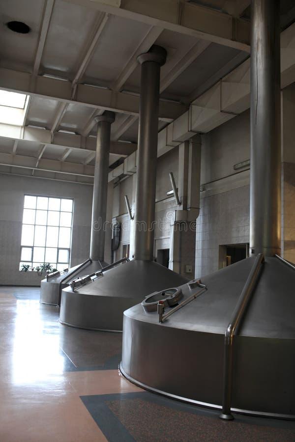 Bierherstellungsbehälter stockfotos