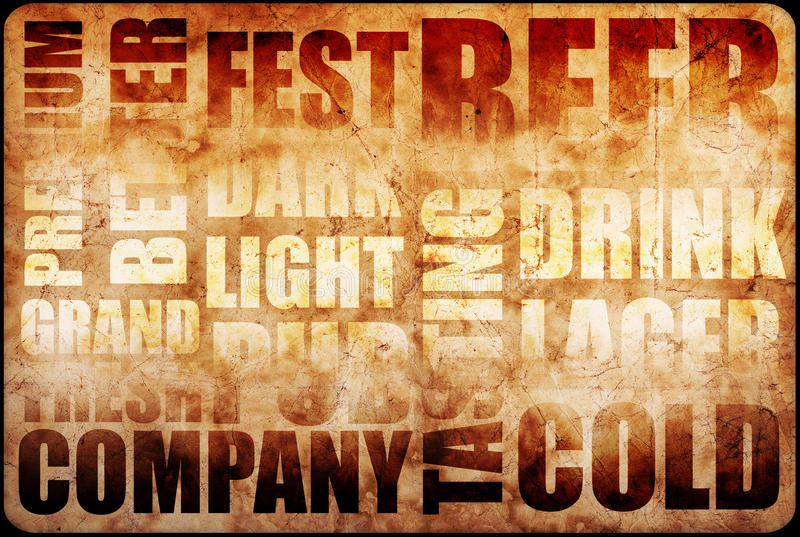 Bierhintergrundtext stockbild