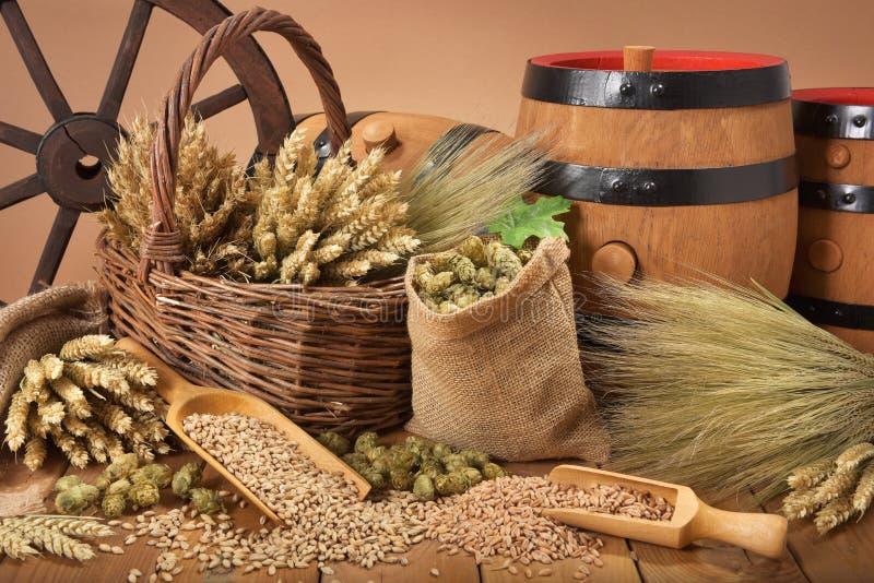 Bieringrediënten stock afbeelding