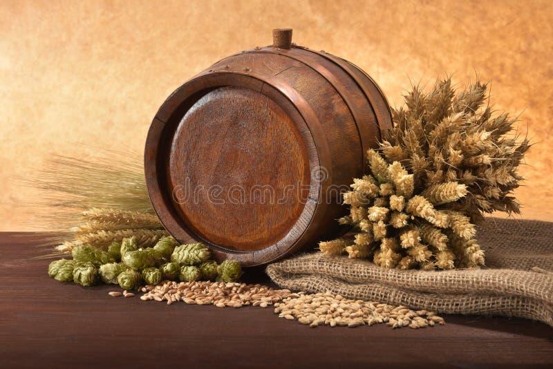 Bieringrediënten stock foto's