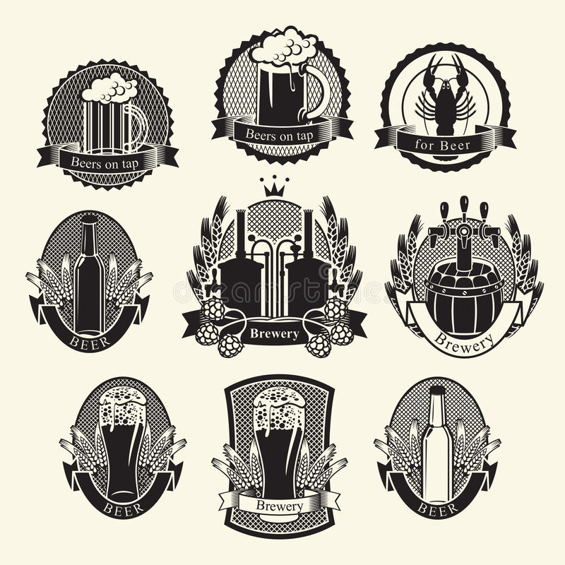 Bierinzameling vector illustratie