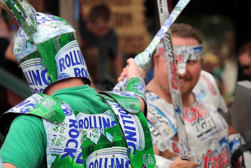 Bierkämpfe stockbilder