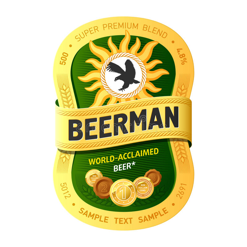 Bierkennsatzauslegung lizenzfreie abbildung