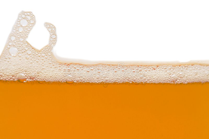 Bierluftblasen lizenzfreies stockbild