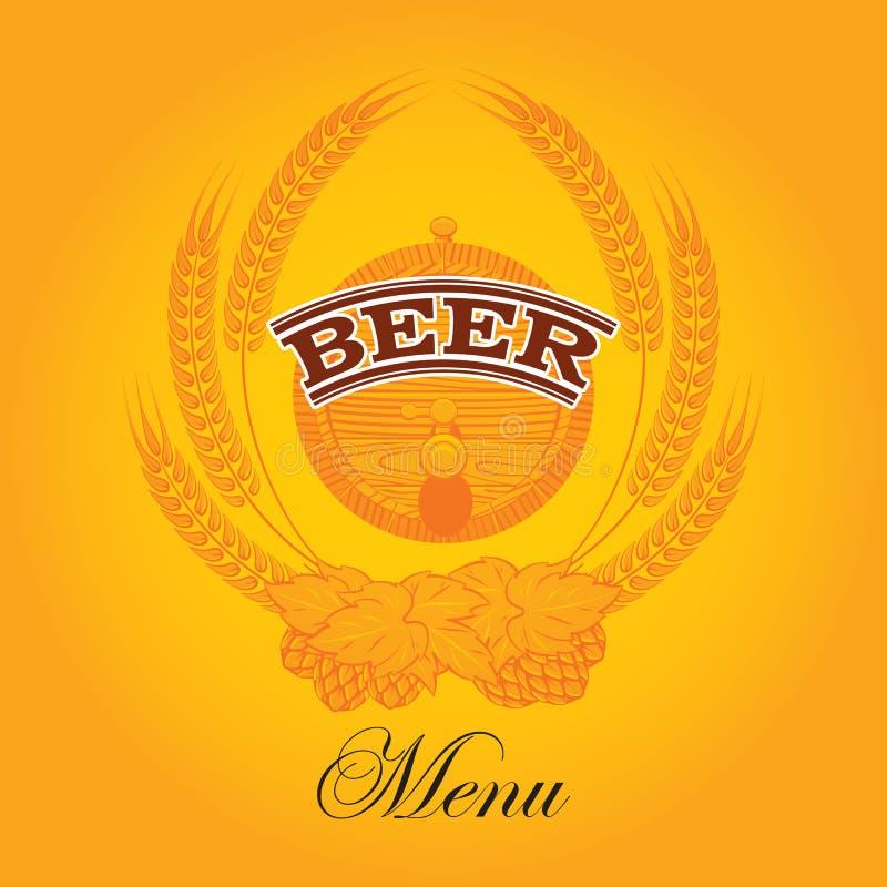 Biermenü lizenzfreie abbildung