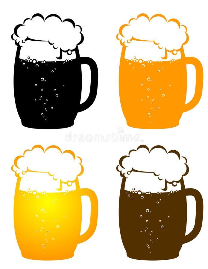 Biermokken met bellen vector illustratie