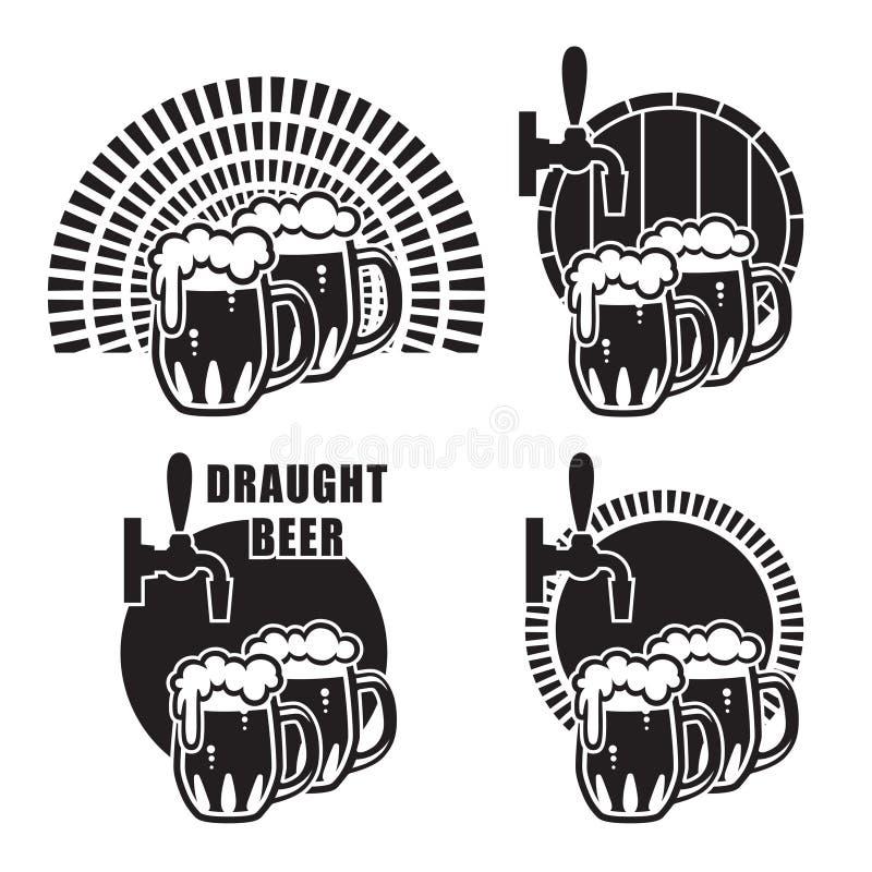 Biermokken op verschillende achtergronden vector illustratie