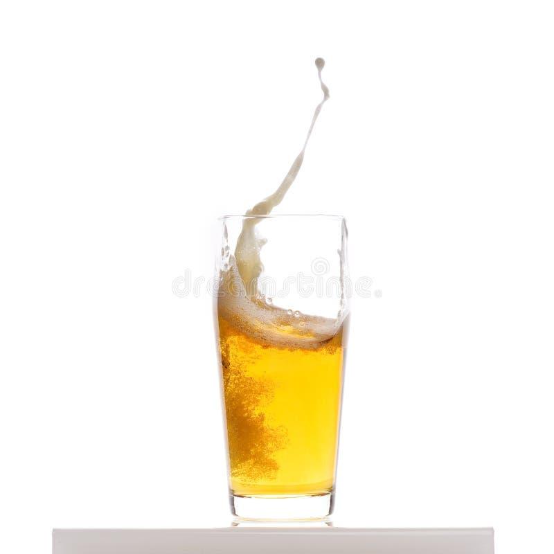 Bierspritzen stockbilder