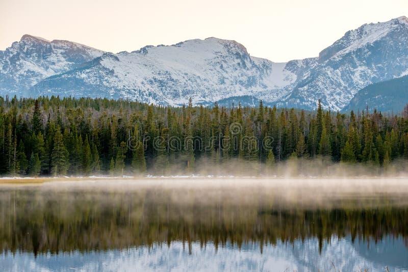 Bierstadt jezioro, Skaliste góry, Kolorado, usa obraz royalty free