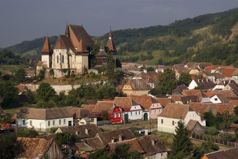 Biertan укрепило церковь стоковые изображения rf
