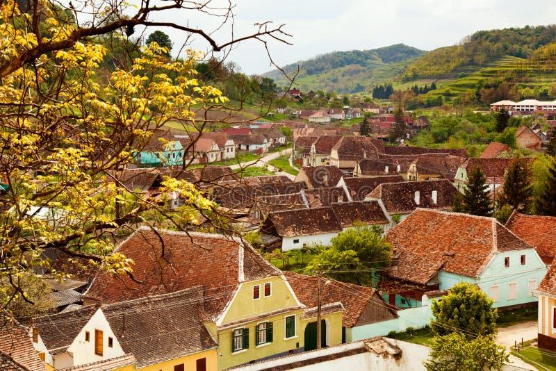 Biertan-Dorf in Siebenbürgen Rumänien stockfoto