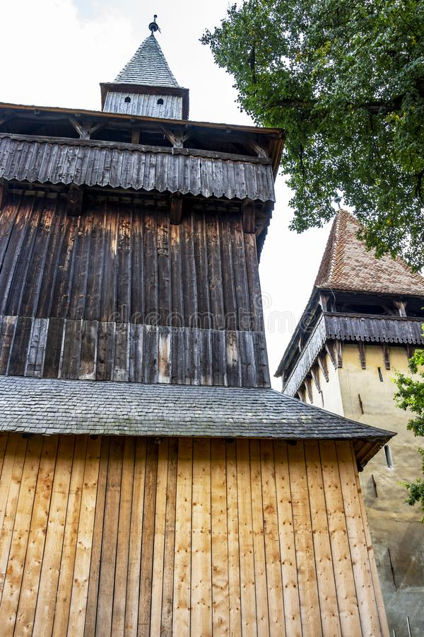 Fortified church of Biertan, Transylvania, Romania stock images