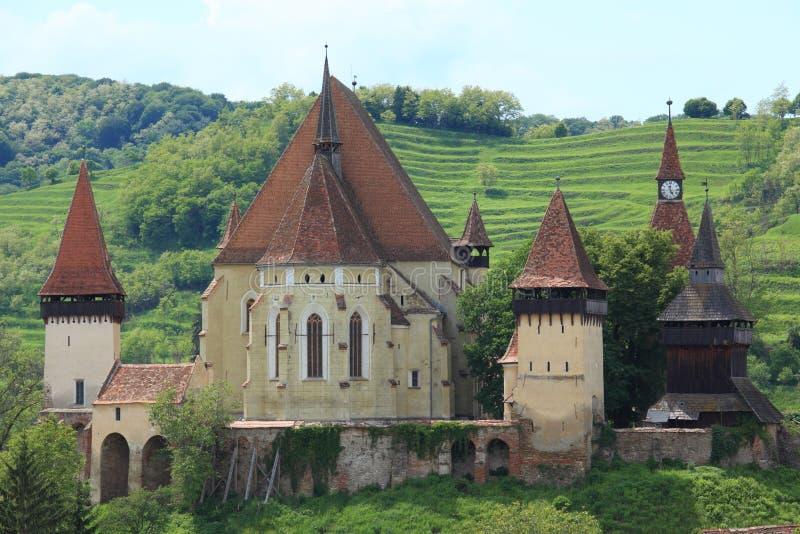 Biertan fortyfikował kościół obrazy stock