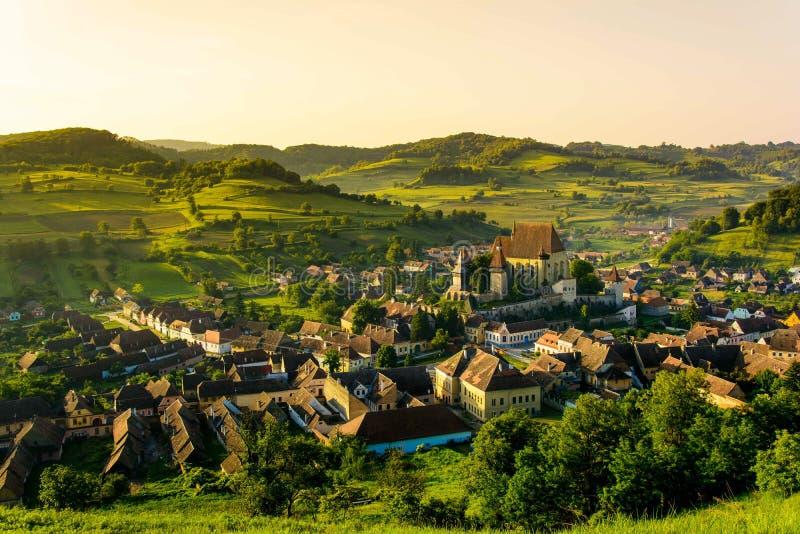 Biertan, il villaggio del sassone più bello dalla Transilvania, Romania fotografie stock