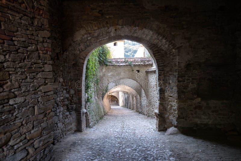 Biertan medievale, arco della Romania fotografie stock libere da diritti