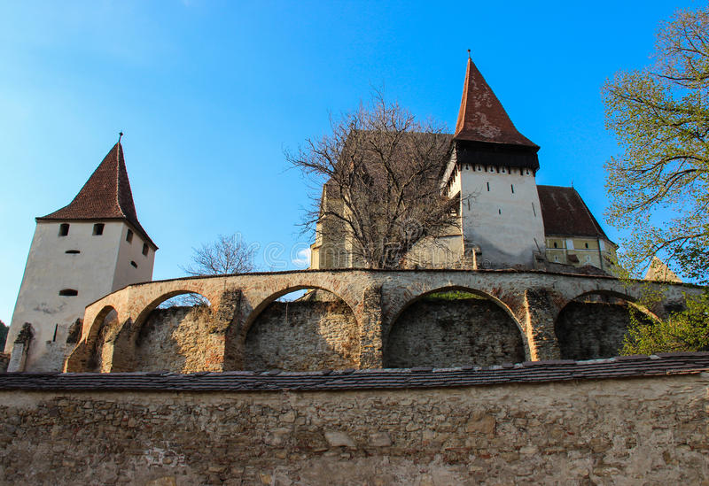 Biertan Versterkte Kerk, Transsylvanië - Biserica Fortificata Biertan stock fotografie