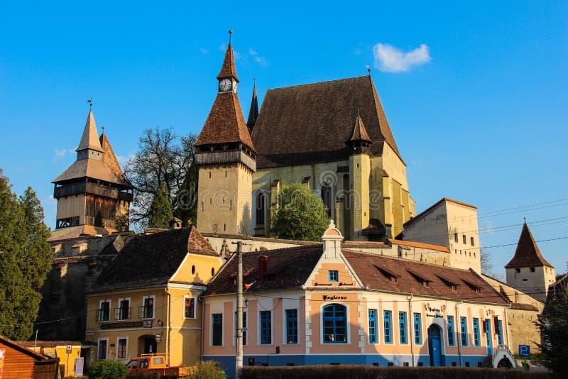 Biertan Versterkte Kerk, Transsylvanië - Biserica Fortificata Biertan stock foto