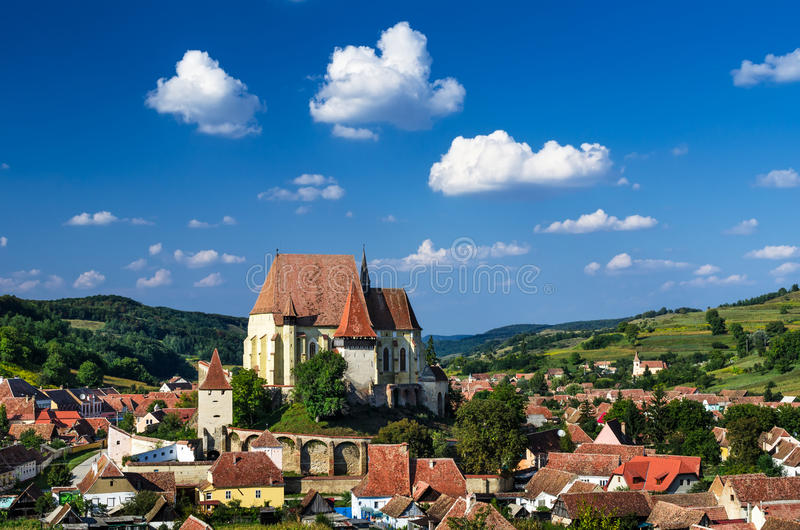 Biertan wioska w Transylvania, Rumunia fotografia stock