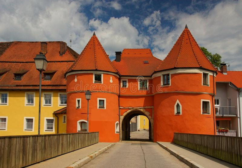 Biertor in Cham. City Gate in the city Cham/Bavaria/Germany royalty free stock image