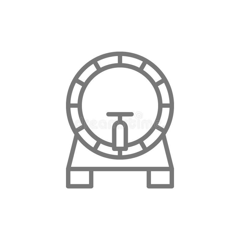 Biervaatje, het pictogram van de vatlijn vector illustratie