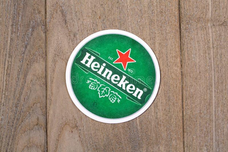 Bierviltjes van Heineken stock foto