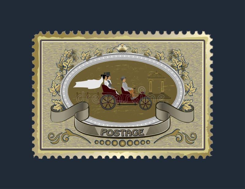 Bierze gatunek i klei kopertę wysyłać przyjaciele royalty ilustracja