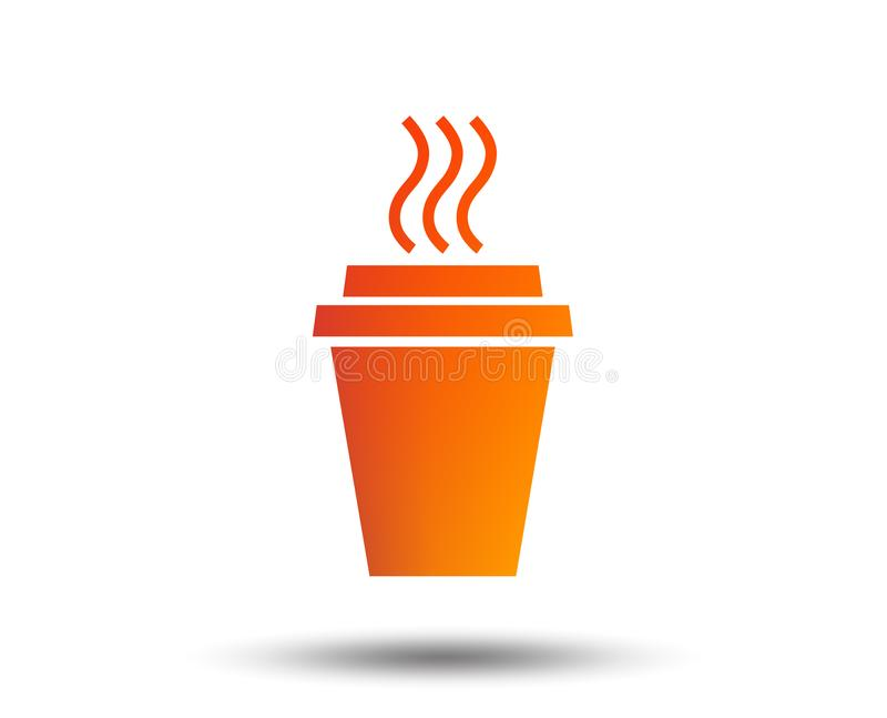 Bierze Kawową szyldową ikonę filiżanka gorącej ilustracji