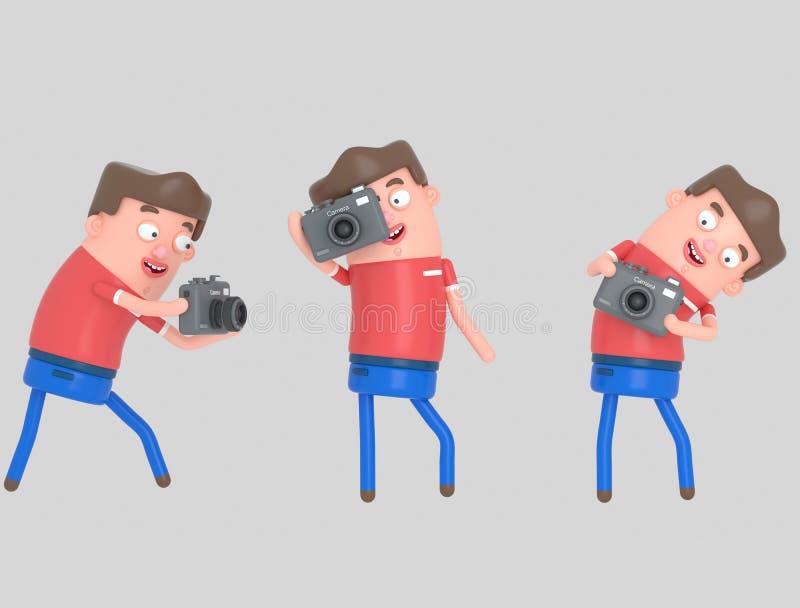 bierze potomstwa mężczyzna fotografia 3D ilustracja, ilustracja wektor