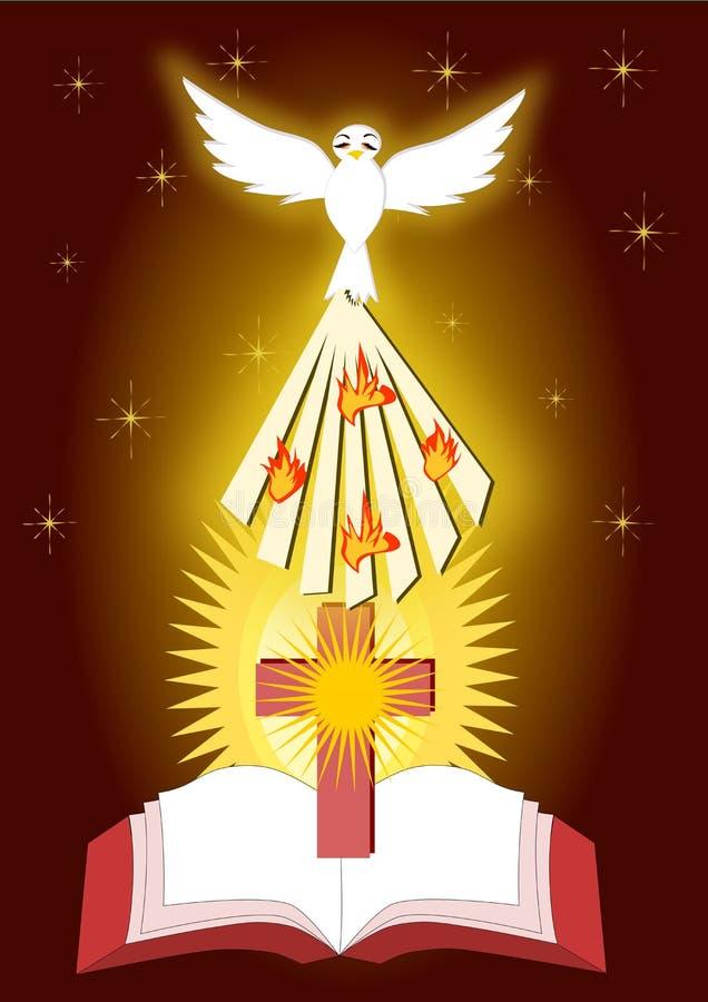 Bierzmowanie sakramenty royalty ilustracja