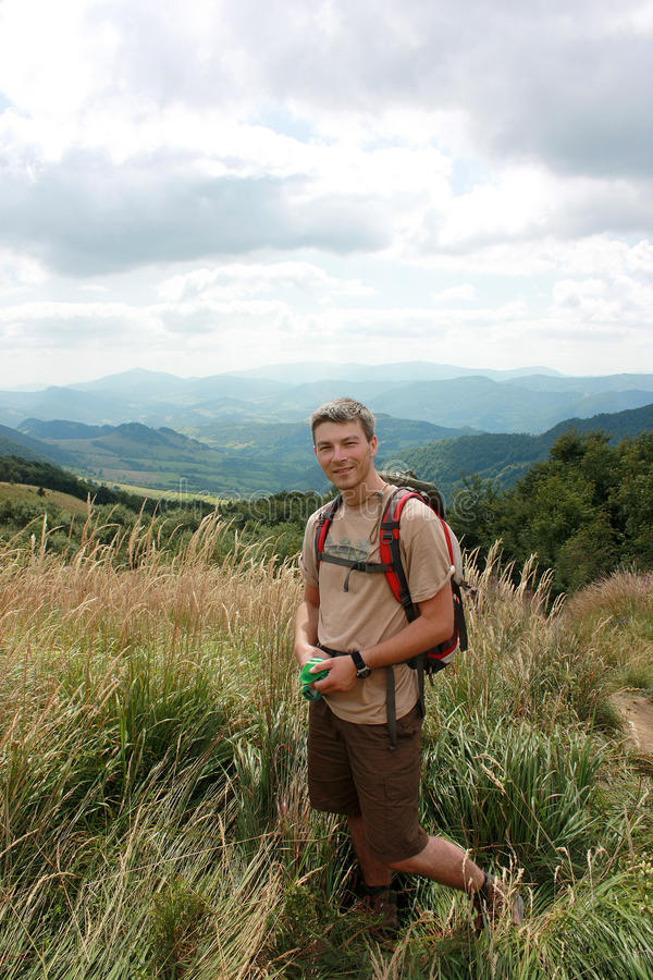 bieszczady berg som trekking arkivbilder