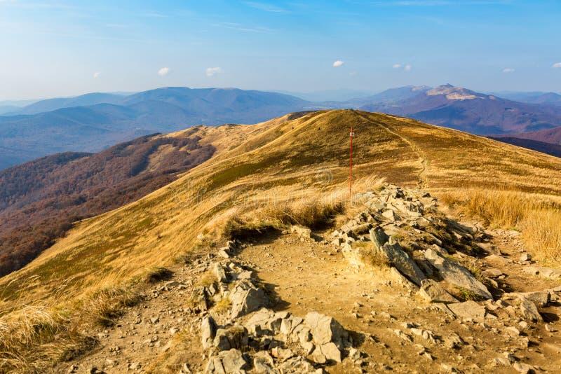 Bieszczady - bergen in Polen royalty-vrije stock afbeeldingen