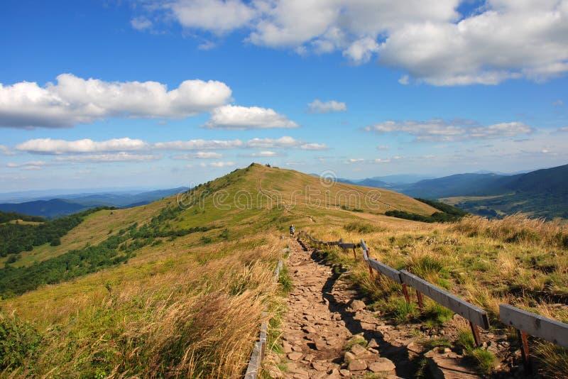 Bieszczady góry, Polonina Wetlinska zdjęcie stock