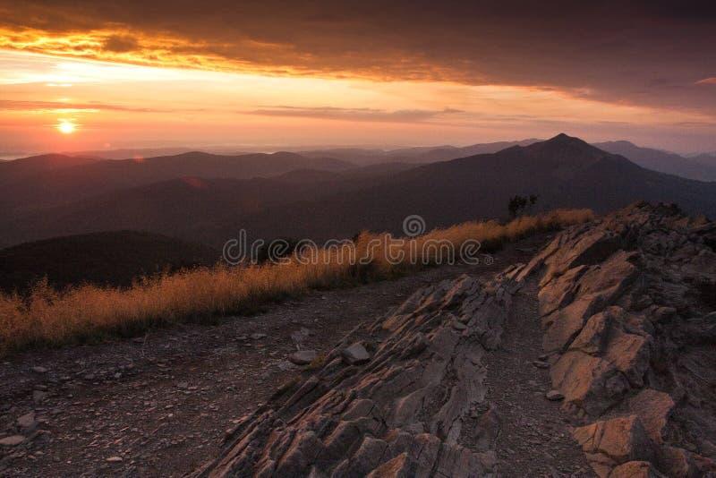 Bieszczady - montagne polacche immagini stock libere da diritti