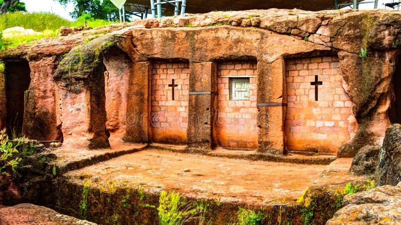 Biete Qeddus Mercoreus rock-hewn church, Lalibela, Ethiopia royalty free stock photo