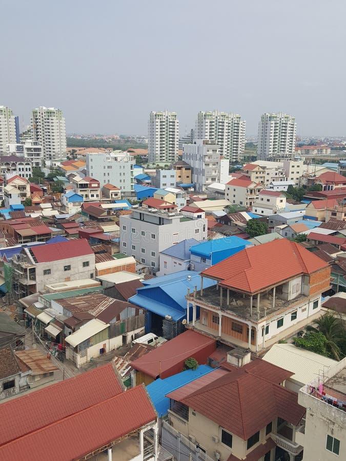 Bieten in Phnom Penh, das Stadt gibt stockbilder