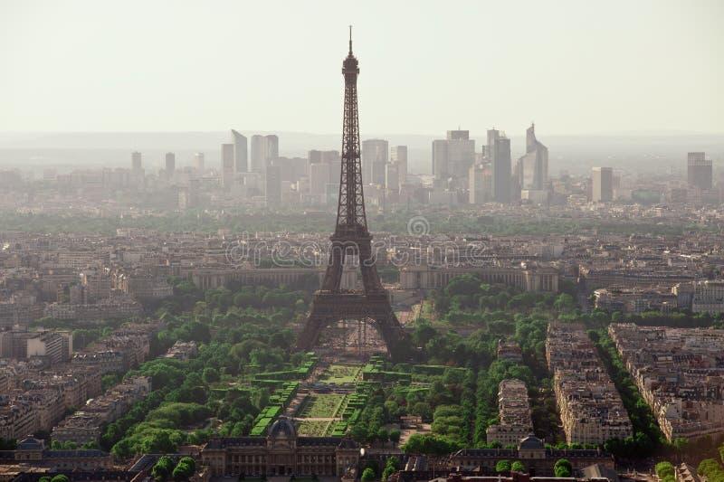 Biew de la torre Eiffel de la torre de Montparnasse imagen de archivo