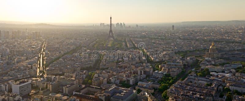 Biew de la torre Eiffel de la torre de Montparnasse fotos de archivo libres de regalías
