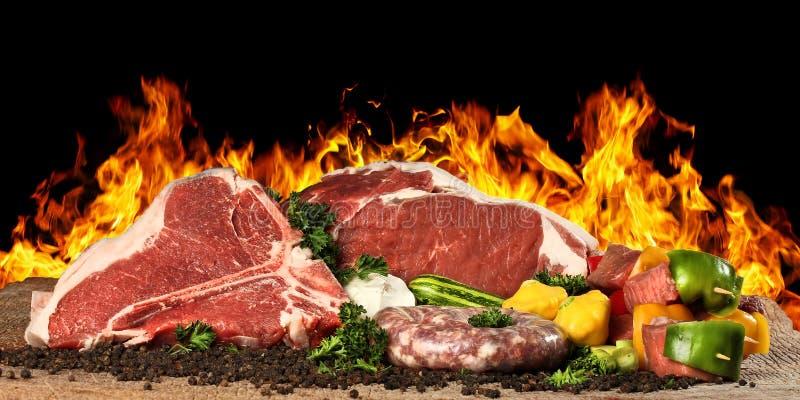 Bife cru da carne imagem de stock