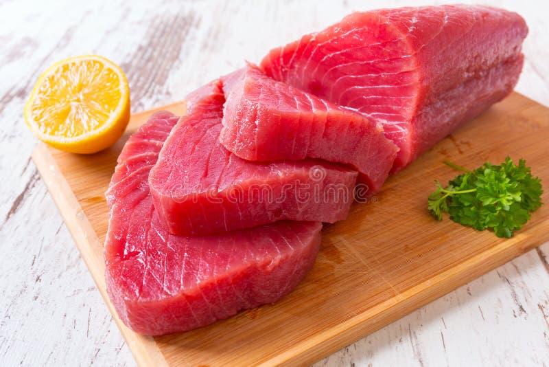 Bife cru do atum fotografia de stock