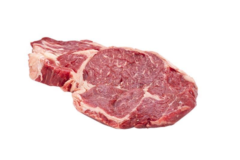 Bife de Ribeye cru imagem de stock
