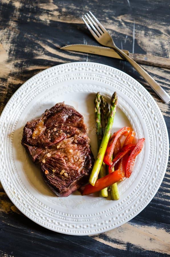 Bife do mandril da carne imagens de stock