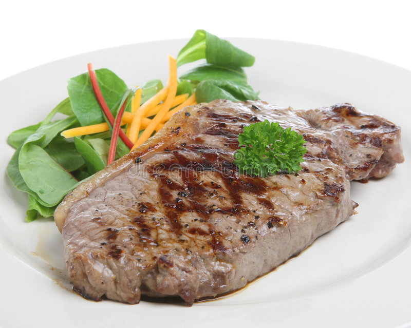 Bife do Sirloin fotografia de stock