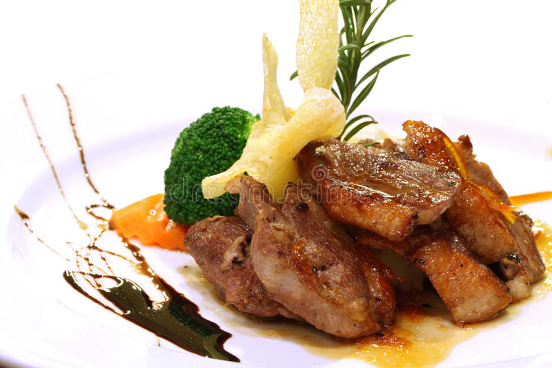 Bife grelhado gourmet do pato imagens de stock